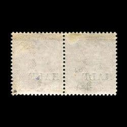 TUT2551 - Natal - ½d. on 1d. Rose horizontal pair, presenting surcharge. CLICK FOR FULL DESCRIPTION
